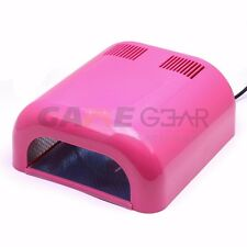 36W UV Nail Lamp Gel Curing Light Timer Salon Dryer Slide Out Tray Red