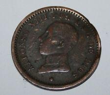 RARA MONEDA DE 2 CENTIMOS DE ALFONSO XIII 1911-11, ENSAYADOR B IV