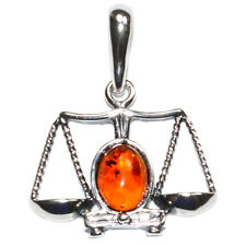 2g Authentic Baltic Amber 925 Sterling Silver Pendant Jewelry A1697