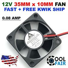 35mm X 10mm New Brushless Case Fan 12V 5.3CFM 2pin PC CPU Cooling 3510s