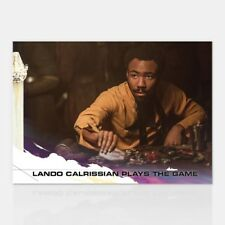 LANDO CALRISSIAN PLAYS THE GAME TOPPS COUNTDOWN TO SOLO A STAR WARS STORY # 2