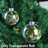 Plastic Clear Transparent Ball Open Bauble Ornaments Christmas Decor Pendant A+
