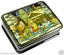 """Der Silberne Huf"" Russische Lackmalerei Schatulle Russian lacquer box Palekh"