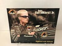 Signed Dale Earnhardt Jr The Outlaw Budweiser  Nascar Index Card Autographed