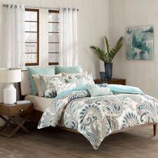 Full/Queen Mira 3 Piece 100% Cotton Comforter Set Cotton Blue Ink+Ivy Ii10-089