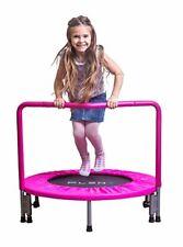PLENY 36-Inch Girls Mini Trampoline with Balance Handrail, Exercise Trampoline
