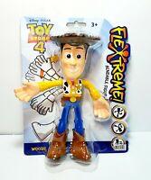 "Disney Pixar Toy Story 4 Woody Flextreme Bendable Figure 7.5"" Tall Toy Figurine"