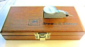 Brown & Sharpe BESTEST  Dial Test Indicator 7030-2 in Wooden Box .0005