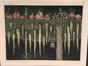 Mid Century Artwork Artist Unknown Signed