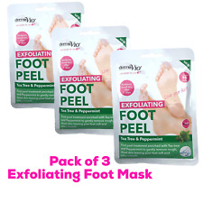 3 x Derma V10 Exfoliating Foot Peel Sock Mask Baby Soft Feet Removes Dead Skin