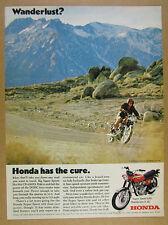 1970 Honda SUPER SPORT 450 motorcycle photo vintage print Ad