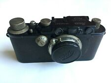 Rare Leica III(model F) black painted Tiranty Paris in very good condition
