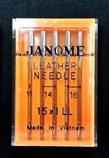 "Genuine Janome Needle ""Leather"" Mixed Sizes 5/Pack"
