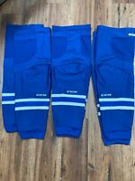 CCM Hockey Socks Size L Blue White Stripes Lot of 3! Blue