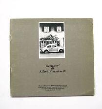 GERMANY di ALFRED EISENSTAEDT catalogo mostra. Torino1984 FOTOGIORNALISMO R01