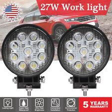4INCH 27W Round LED WORK LIGHT BAR Spot Flood OFFROAD DRIVING Auto FOG LAMP 12V