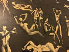1957 ORIG. ART CAPE COD LONG NECK BEACH NUDE PAINTING MALE FEMALE PROVINCETOWN