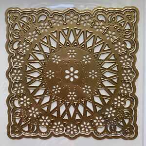 """Anna Griffin 5.5"""" Card Frame Lace Flower Embossing Stencil Cutting Dies"""