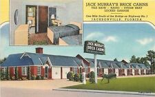 1940s Jack Murray's Brick Cabins Interior Entrance furniture Teich linen 8353