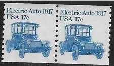 xsc989 Scott 1906 US Stamp 1981 17c Electric Auto 1917 Transportation Coil Pair