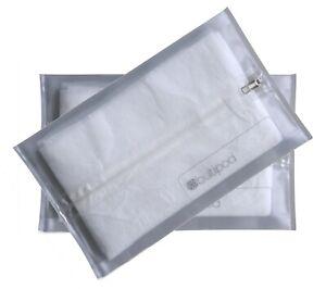 butipod zip flexible wipes case dispenser with center zipper (2-pack, clear)