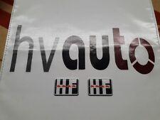 HF Emblem Badge Stemma Kotflügel Fender Lancia Delta HF Integrale&Evo Japan neu