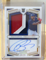 2020 Panini National Treasures Rookie Auto Jersey Patch Bobby Bradley Gold 18/25