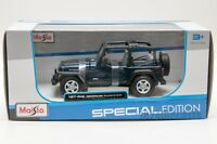 Jeep Wrangler Rubicon Blue, Maisto 31245, scale 1:27,gift toy model car