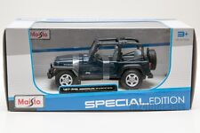 Jeep Wrangler Rubicon Blue, Maisto 31245, scale 1:27, gift toy model car