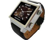 sWaP Sim Free / Unlocked Mobile Phone Watch (Black/Silver )
