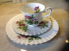 Royal Albert Highland thistle cup, salad, bread & butter plate 3 Piece set