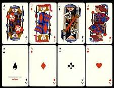 DOUBLE DECK LOEWE 1960 ARIES LEATHER CASE FOURNIER PLAYING CARDS MINT SEALED