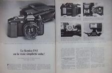 PUBLICITÉ DE PRESSE 1979 LE KONICA FS1 APPAREIL A MOTEUR INCORPORÉ - ADVERSITING