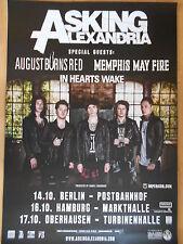 ASKING ALEXANDRIA 2015 TOUR  -  orig.Concert Poster  --  Konzert Plakat   NEU
