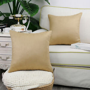 """2Pcs Square Pillow Throw Solid Cushion Cover Case Shell Faux Suede 18x18"""" 20x20"""""""