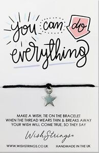 Wish Bracelet. You Can Do Anything. Handmade Gift For Friend, Sister, Mother