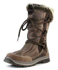 NEW SANTANA CANADA MENDOZA WATERPROOF LEATHER SNOW BOOTS BROWN, 7M $229 NWB