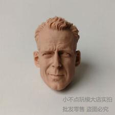 unpainted 1/6 Scale Bruce Willis Head Sculpt John Mcclane Die Hard Kit Bashing