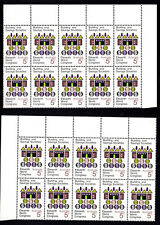 1968 5c Buildings & Savings Societies World Congress Australia 2 Blocks of 10