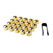 20x17 Golden Wheel Lug Nut Bolt Cover Cap For VW Golf MK4 Audi Skoda Passat Seat