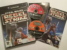 2 Juegos De Nintendo Gamecube Star Wars Rogue Escuadrón Líder II + III Rebel Strike