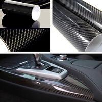 Selbstklebend Carbon Folie Auto KFZ Klebe Folie Glanz Matt Schwarz 5D WYS