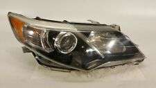 2012-2014 TOYOTA CAMRY HEADLIGHT PASSENGER HALOGEN LAMP 12-14 OEM BLACK BEZEL
