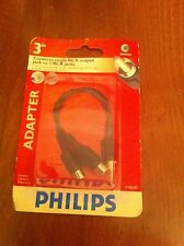 "Philips Adapter 3in Converts single RCA Output Jack to 2 Jacks 3"" Audio/Video"