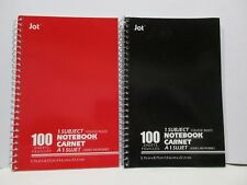 Lot of 2 One Subject Spiral Notebook College Ruled 100 Sheets Each School
