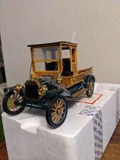 Franklin Mint 1913 Ford Model T Pickup Truck B11Wt46 Wood & Dk Green 1:16 Scale