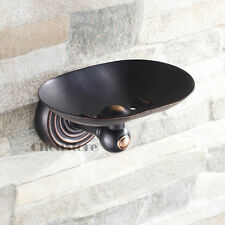Solid Oil Rubbed Brass Bathroom Soap Dish Holder Body Soap Tray Wall Mount Black