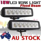 2X 18W LED FLOOD WORK LIGHT BAR CAR OFF ROAD TRUCK JEEP 4WD DRIVING LAMP AU SHIP