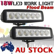 2X 18W LED FLOOD WORK LIGHT BAR CAR OFF ROAD TRUCK JEEP 4WD DRIVING LAMP AU SHIP