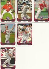 2012 Bowman Washington Nationals Cards Lot Ungraded